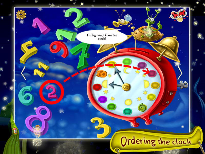 Ordering the numbers of the clock
